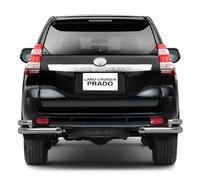 Защита заднего бампера угловая двойная d63/76мм для Toyota Land Cruiser Prado 150 (2014 -) ПТ Групп 9020301