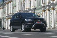 Решетка передняя мини d76 низкая на Audi Q7 (2006 -) СОЮЗ-96 AUDQ.56.0334