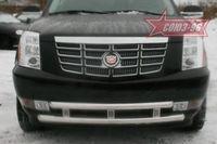 Защита переднего бампера d60/60 двойная на Cadillac Escalade (2007 -) СОЮЗ-96 CDES.48.0608