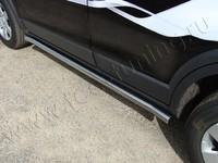 """Пороги """"труба"""" 60,3 мм на Chevrolet Captiva (2012 -) ТСС CHEVCAP12-02"""