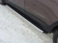Пороги алюминиевые с пластиковой накладкой для Chevrolet Captiva (2012 -) ТСС CHEVCAP12-13