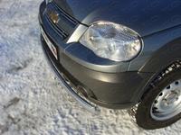 Защита передняя (овальная) 75x42 мм на Chevrolet Niva (2009 -) ТСС CHEVNIV12-01