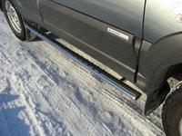 Пороги овальные с проступью 75x42 мм на Chevrolet Niva (2009 -) ТСС CHEVNIV12-02