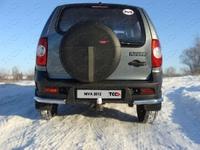 "Защита задняя ""уголки"" 60,3 мм на Chevrolet Niva (2009 -) ТСС CHEVNIV12-05"
