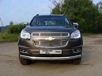 Решётка радиатора верхняя 12 мм на Chevrolet TrailBlazer (2012 -) ТСС CHEVTRBL13-08