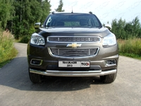 Решётка радиатора нижняя 12 мм на Chevrolet TrailBlazer (2012 -) ТСС CHEVTRBL13-09
