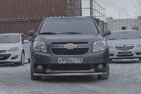 """Защита переднего бампера """"труба"""" d60 Premium на Chevrolet Orlando (2011 -) СОЮЗ-96 CHOR.48.1586"""
