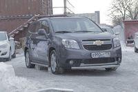 """Защита переднего бампера """"труба"""" овальная 75х42 на Chevrolet Orlando (2011 -) СОЮЗ-96 CHOR.48.1587"""