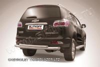 Защита заднего бампера d76+d57 двойная  для Chevrolet TrailBlazer (2012 -) Слиткофф CHTB12-010