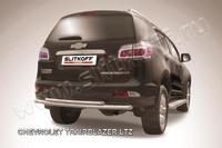 Защита заднего бампера d57+d42 двойная для Chevrolet TrailBlazer (2012 -) Слиткофф CHTB12-012