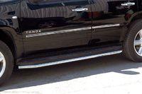 Защита штатного порога d60 на Chevrolet Tahoe (2012 -) СОЮЗ-96 CHTH.86.1414
