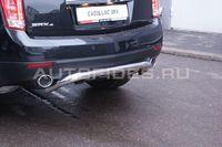 Защита задняя d60 с элементами из профиля на Cadillac SRX (2011 -) СОЮЗ-96 CSRX.75.1358