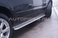 Пороги с листом d42 на Cadillac SRX (2011 -) СОЮЗ-96 CSRX.82.1357