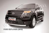 Защита переднего бампера d76 для Ford Explorer (2011 -) Слиткофф FEX002