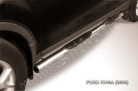 Пороги d76 с проступями  для Ford Kuga (2008 -) Слиткофф FKG007
