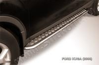 Пороги d42 с листом  для Ford Kuga (2008 -) Слиткофф FKG010