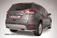 Защита заднего бампера d57 для Ford Kuga (2013 -) Слиткофф FKG13-008