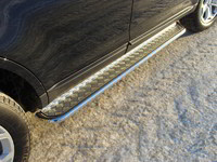 Пороги с площадкой 42,4 мм для Ford Edge (2014 -) ТСС FOREDG14-07