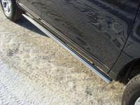Пороги труба 60,3 мм для Ford Edge (2014 -) ТСС FOREDG14-09