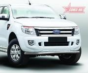 Защита переднего бампера труба d60 Premium для Ford Ranger (2013 -) СОЮЗ-96 FRAN.48.1760
