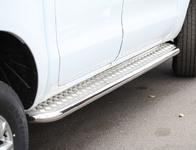 Пороги с листом d60 для Ford Ranger (2013 -) СОЮЗ-96 FRAN.82.1765