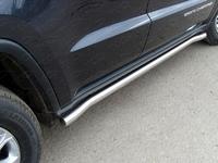 Пороги труба 60,3 мм для Jeep Grand Cherokee (2013 -) ТСС GRCHER13-07