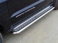Пороги с площадкой 60,3 мм для Jeep Grand Cherokee (2013 -) ТСС GRCHER13-08