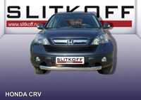 Защита переднего бампера d76 для Honda CR-V (2007 -) Слиткофф HCRV002