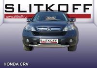 Защита переднего бампера d57+d57 двойная   для Honda CR-V (2007 -) Слиткофф HCRV003