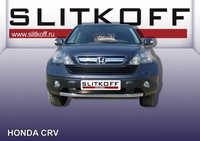 Защита переднего бампера d57 для Honda CR-V (2007 -) Слиткофф HCRV004
