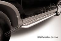Пороги d57 с листом  для Honda CR-V (2013 -) Слиткофф HCRV13-007