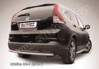 Защита заднего бампера d57 радиусная  для Honda CR-V (2013 -) Слиткофф HCRV13-010