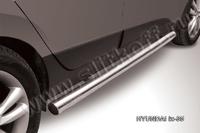 Пороги d76 труба  для Hyundai ix35 (2010 -) Слиткофф HIX35-005