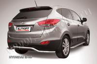 """Защита заднего бампера d57 """"волна"""" для Hyundai ix35 (2010 -) Слиткофф HIX35-008"""