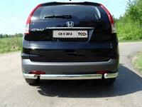 Защита задняя (овальная короткая) 75х42 мм на Honda CR-V (2012 -) ТСС HONCRV13-15