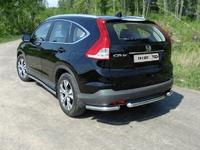 "Защита задняя ""уголки"" 60,3 мм на Honda CR-V (2012 -) ТСС HONCRV13-17"