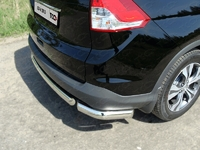 Защита задняя (уголки овальные) 75х42 мм на Honda CR-V (2012 -) ТСС HONCRV13-18