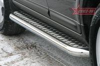 Пороги с листом d60 на Hyundai Santa Fe (2006 -) СОЮЗ-96 HSFE.82.0323