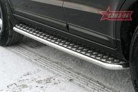 Пороги с листом d42 на Hyundai Santa Fe (2006 -) СОЮЗ-96 HSFE.82.0324