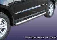 Пороги d57 труба  для Hyundai Santa Fe (2010 -) Слиткофф HSFN008