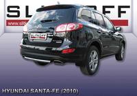 Защита заднего бампера d57  для Hyundai Santa Fe (2010 -) Слиткофф HSFN011