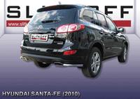 Уголки d57 для Hyundai Santa Fe (2010 -) Слиткофф HSFN012