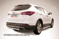 Защита заднего бампера d57 короткая для Hyundai Santa Fe (2012 -) Слиткофф HSFT12-009