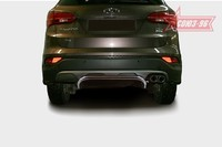 Защита задняя d42 на Hyundai Santa Fe (2012 -) СОЮЗ-96 HYSF.75.1624