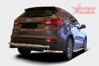 Защита задняя d60 на Hyundai Santa Fe (2012 -) СОЮЗ-96 HYSF.75.1625