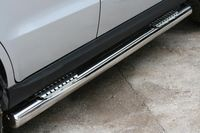"Пороги ""труба"" d76 с двумя декоративными элементами на Hyundai Santa Fe (2010 -) СОЮЗ-96 HYSF.84.1151"