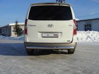 Защита задняя (центральная) 75х42 мм для Hyundai H-1 (2010 -) ТСС HYUNH110-05