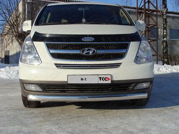 Решётка радиатора 16 мм для Hyundai H-1 (2013 -) ТСС HYUNH110-06
