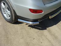 "Защита задняя ""уголки"" 60,3 мм на Hyundai Santa Fe (2010 -) ТСС HYUNSF10-06"