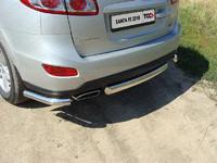 Защита задняя (уголки) 60,3 мм для Hyundai Santa Fe (2011 -) ТСС HYUNSF11-06